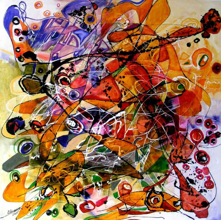 Fantoma de la opera abstract by E.Bissinger -