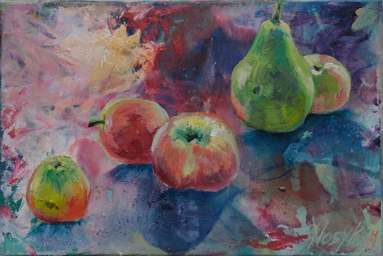 Apples and  a pear - Image 0