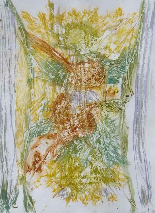 Velocity #2 , Acrylic on paper 29x41 cm -