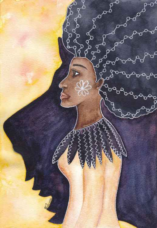 'Warrior Woman' Original Watercolour Painting
