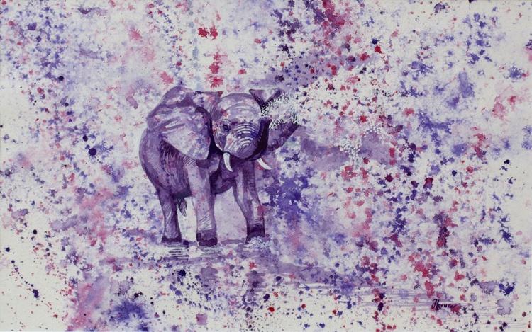 Playing Purple Baby Elephant - Image 0