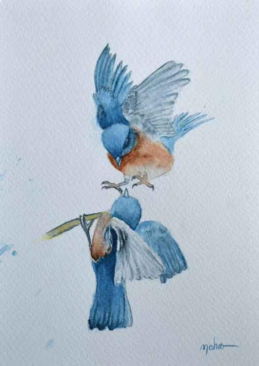 Blue Birds-RESERVED -