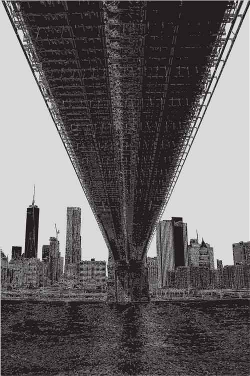 Brooklyn Bridge 3 NY B&W -