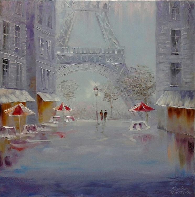 painting *С любовью о Париже*Oil on canvas 80х80 cm - Image 0