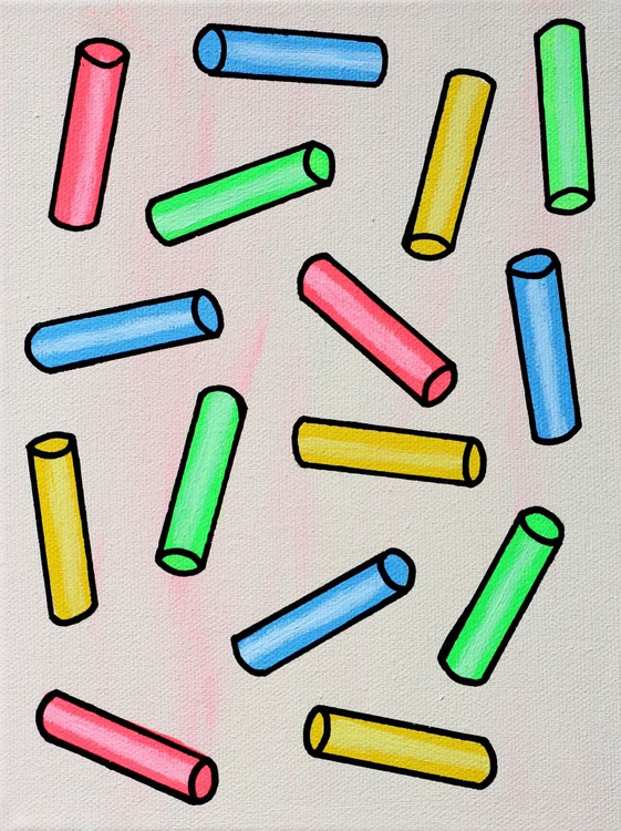 Sprinkles on Ice Cream Close-up - Miniature Pop Art Canvas - Hundreds and Thousands - Image 0