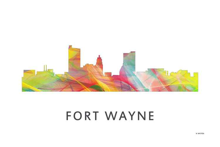 Fort Wayne Indiana Skyline WB1