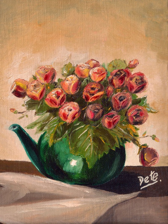 Teapot of Roses - Image 0