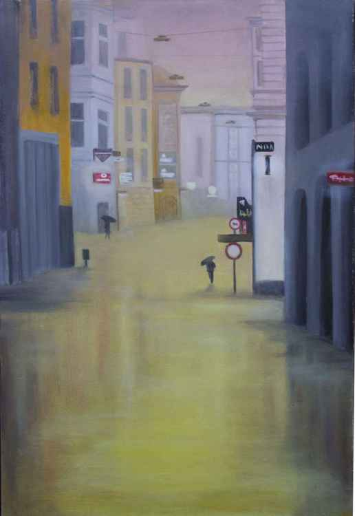 Rain in the city -