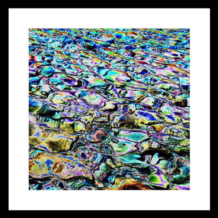 Natural Abstracts - Lake Pebbles number 3 -