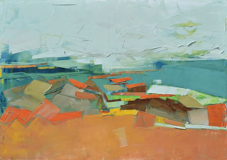 Canvas art 39.37/27.5(100/70cm). Meadow IX. - Image 0