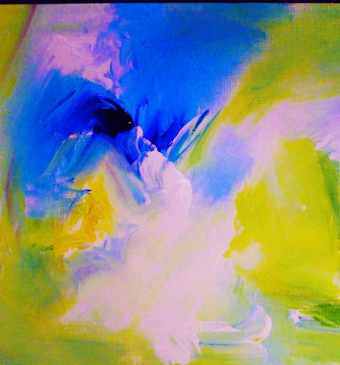 Abstract with blue and yellow - Image 0