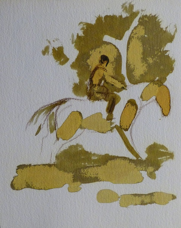 Rider 3, 24x30 cm - Image 0