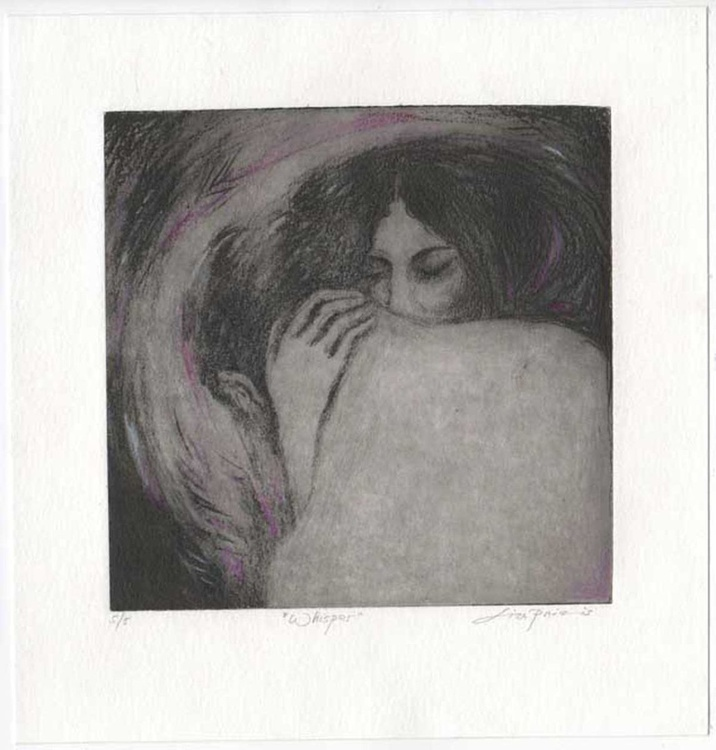 Whisper - Lovers limited edition etching of two lovers - Image 0