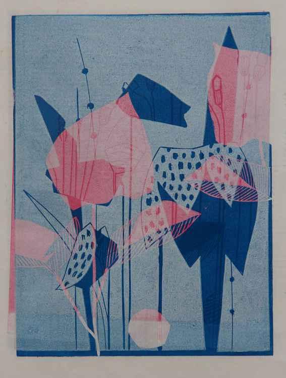 Pink/Blue Fritillaria -