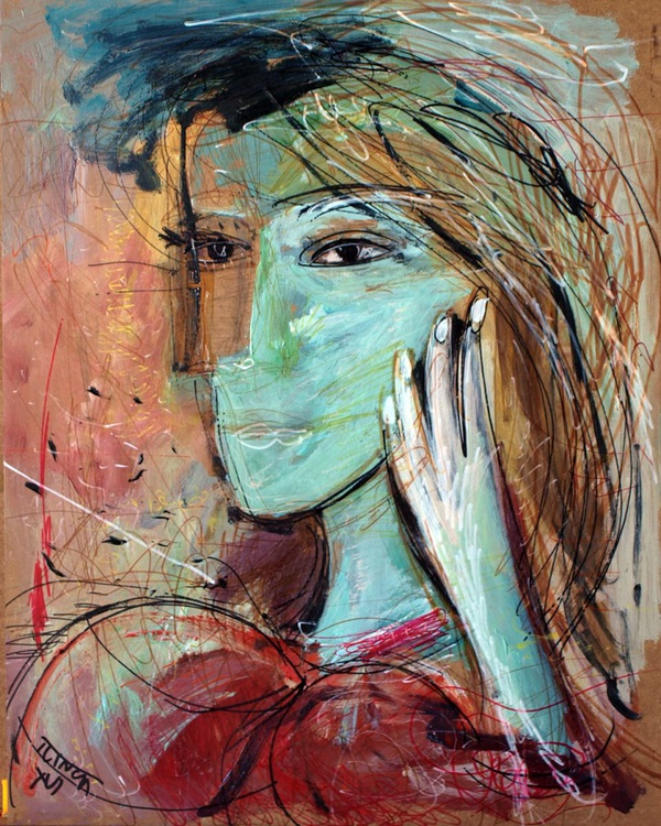 Portrait of a girl (inspired by Picasso) - Image 0