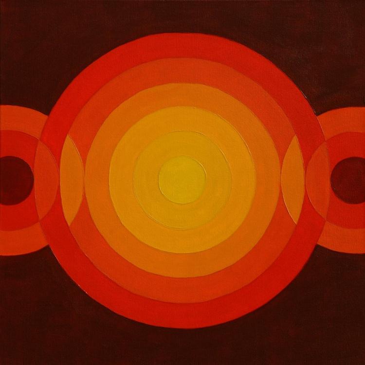 Geometric 009 (3+6+3 circles, 4 centimetres, 0 degrees) - Image 0