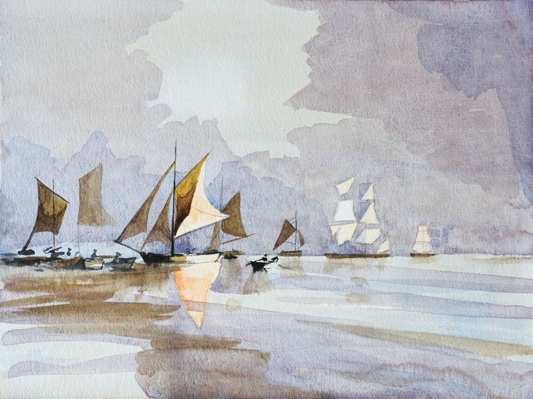 Tribute to Rowland Hilder No. 3 - Image 0