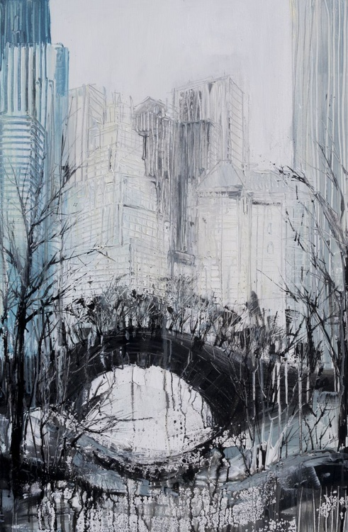 Central Park, New York - 90cm x 60cm, ready to hang - Image 0