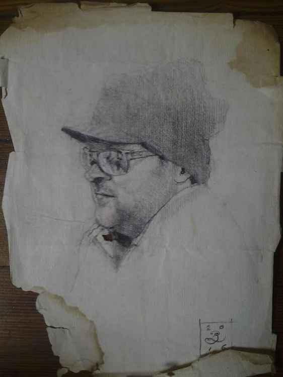 Bar Sketch on 600 y/o Paper: #3 -