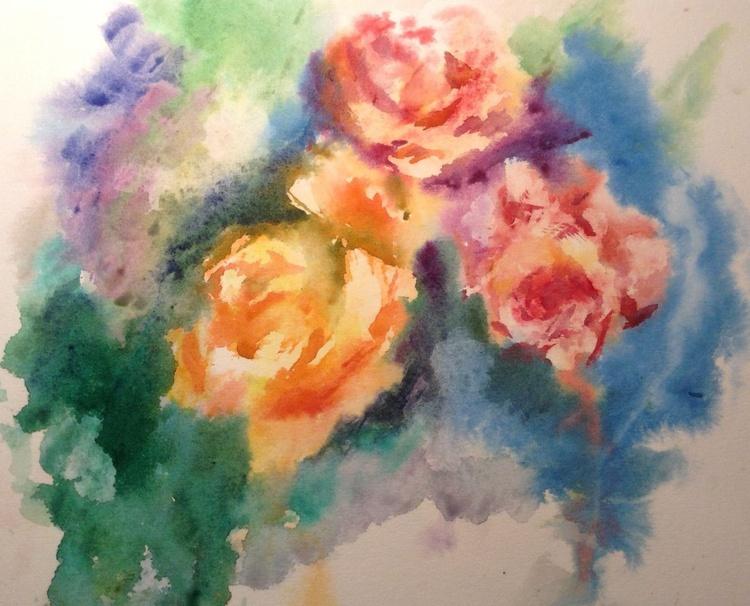 Watercolor roses - Image 0