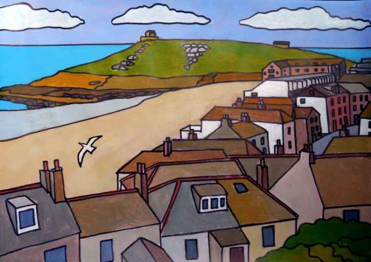 View from The Tate Gallery, St Ives.