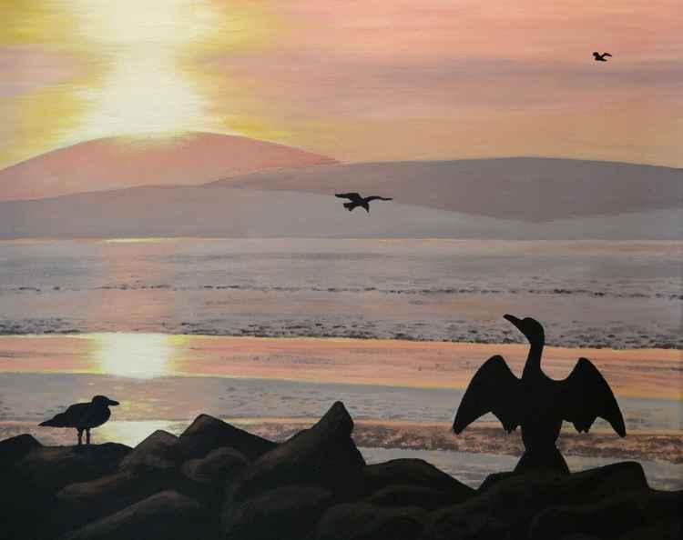 Morecambe Bay Sunset -