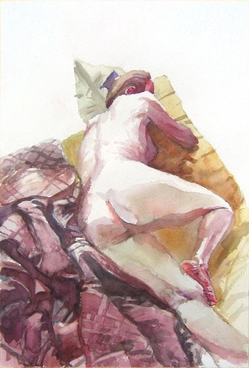burgundy quilt... - Image 0