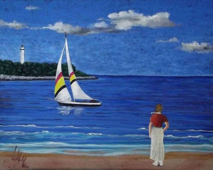 Girl on the Beach - Image 0