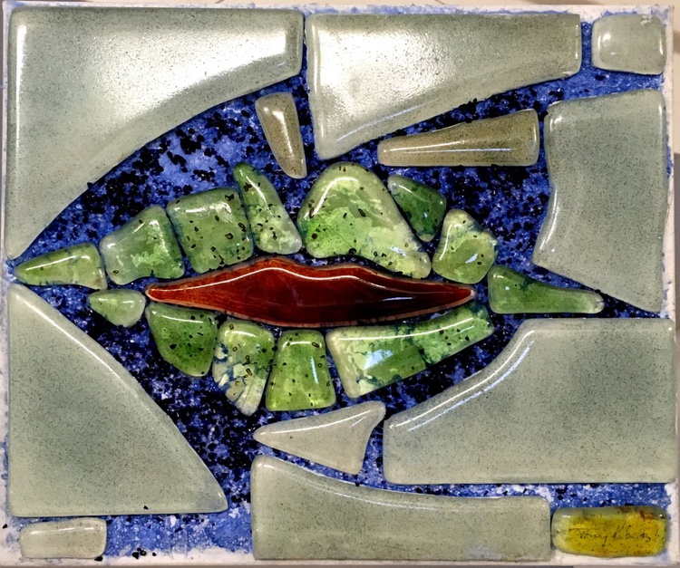 Hotlips - Stained Glass panel - Image 0