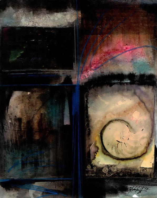 Abstract Painting -  Nautilus Shells Sea Shells - Nature Voices No. 5 - Image 0