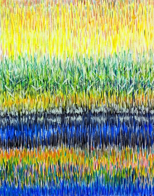 Schilf - Ölbild 40 x 50 cm - Image 0