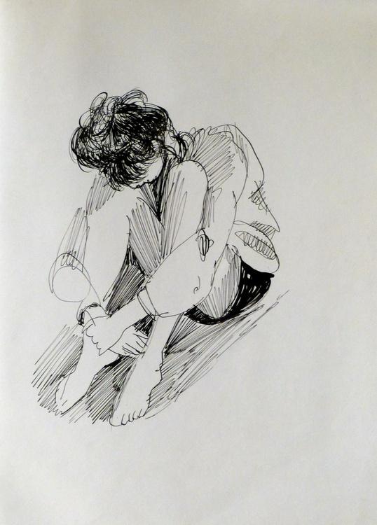 Student 8, 24x31 cm - Image 0