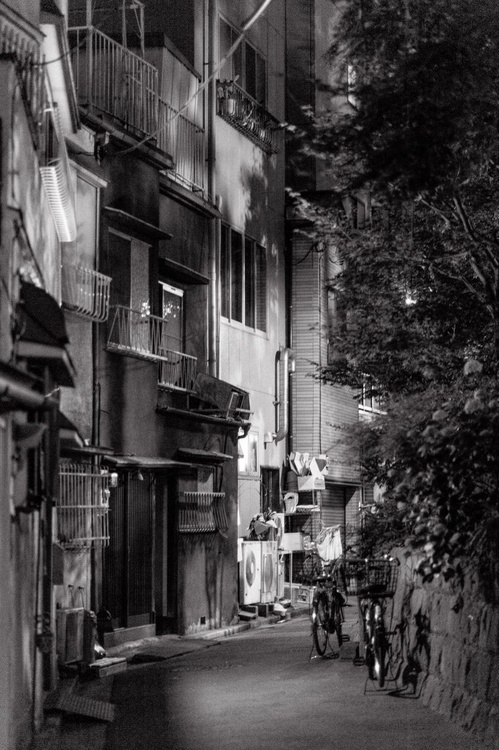 Alleyway at night, from the Japan Notebook. - Image 0