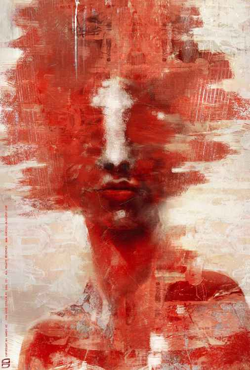 In Red (40x60cm FineArt on canvas)