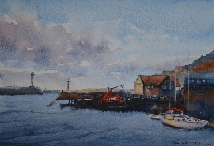 Late Afternoon Light Over Whitby Harbour - Image 0
