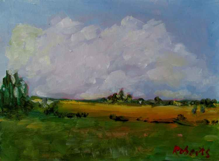 #O110 - Country view with clouds
