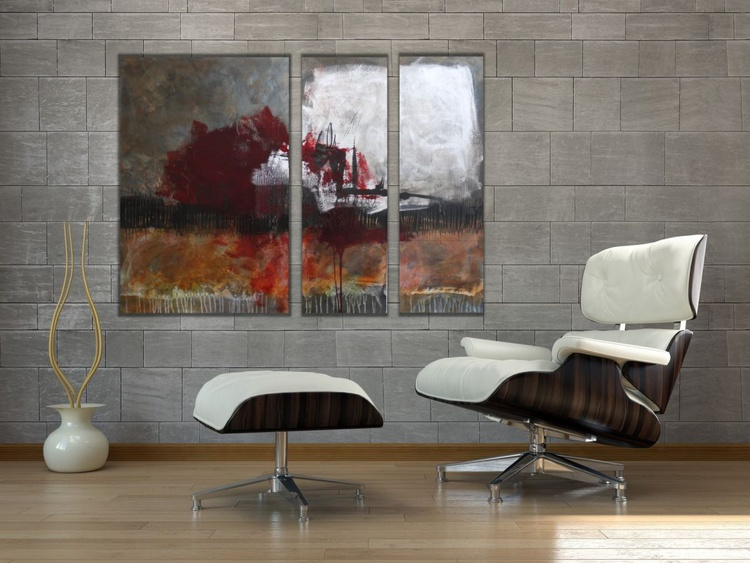 Abstract Triptych | Work No. 2009.18 - Image 0