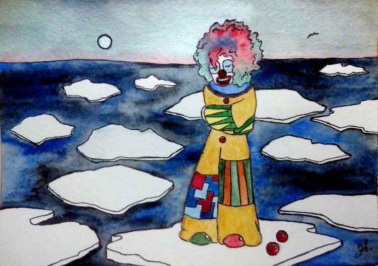 Clown, who laughs for free -
