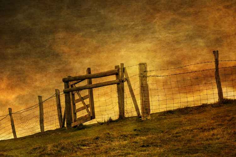 Gate on the hill -