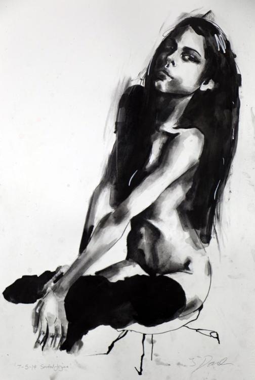 7-5-14 seated figure - Image 0