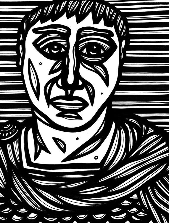 Sagacious Roman Citizen Original Drawing - Image 0