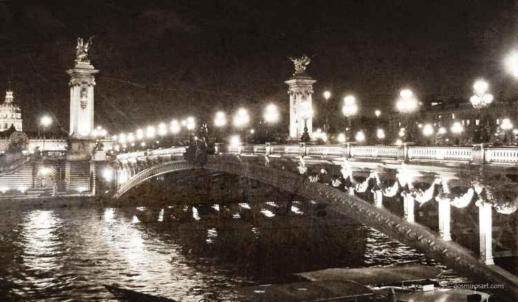 Alexander's Bridge, Paris. -