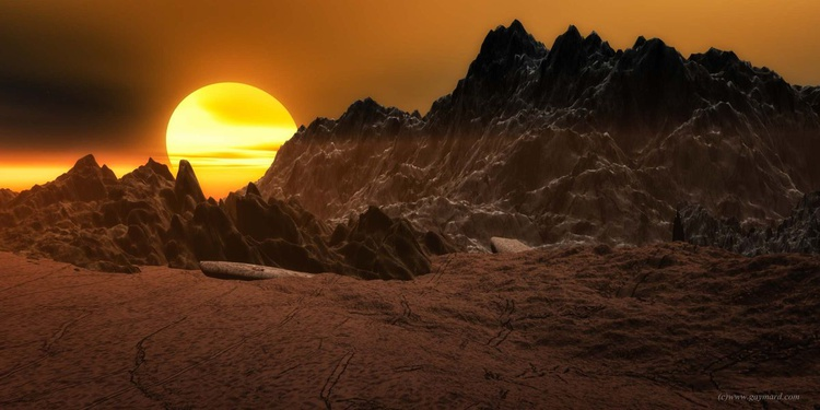Sunset on the strange planet - Image 0