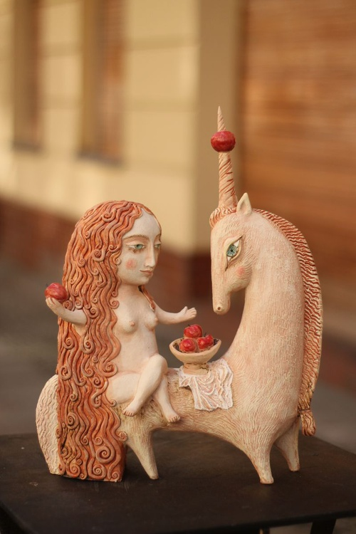 The Legend of the Unicorn.  Sculpture from my latest exhibition in Berlin. - Image 0
