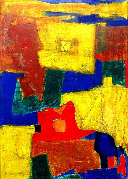 Equilibrium - abstraktes Ölgemälde 100 x 140 cm - Image 0