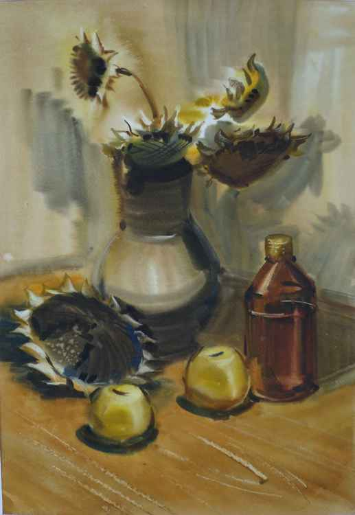 Sunflowers. Autumn Still Life -