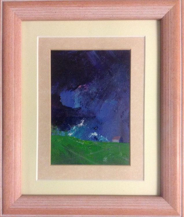 The House on the Hill (framed original) - Image 0
