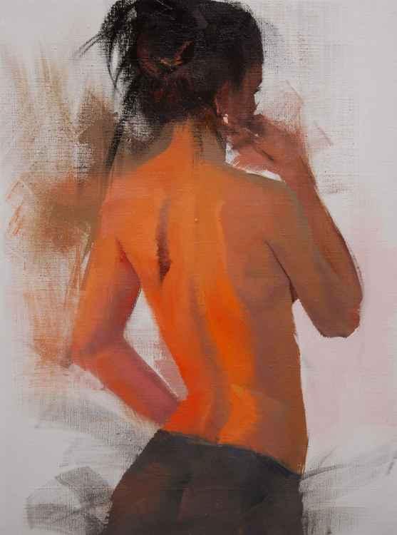 """Nude painting, """" Ju 3 """" -"""
