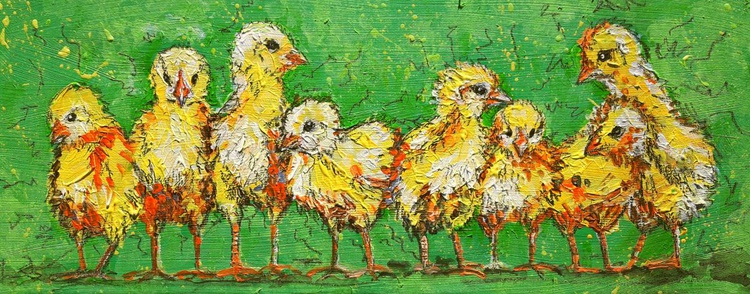 """Chicks in a row"" - Image 0"