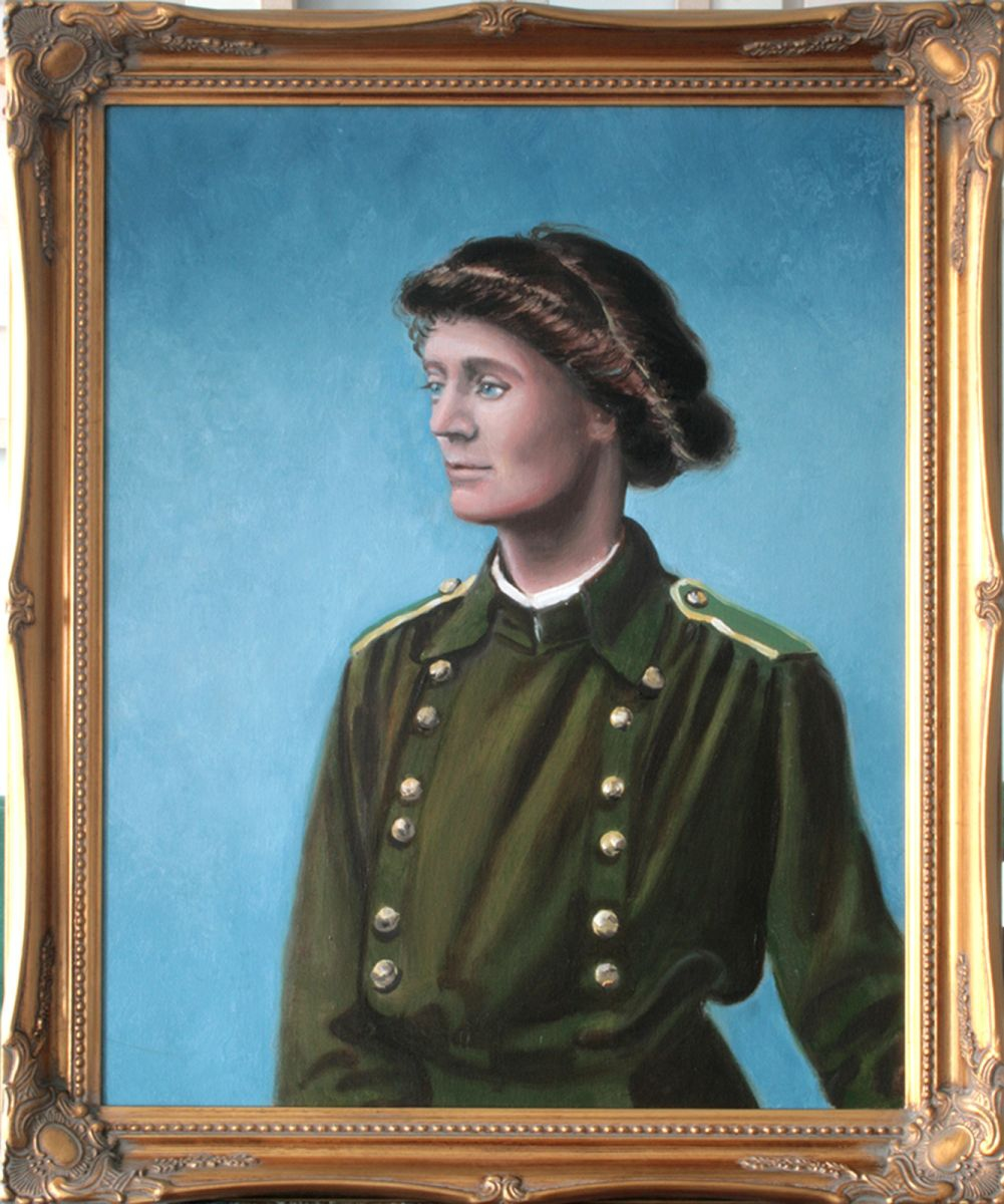 Portrait Of Constance Markievicz 2016 Oil Painting By